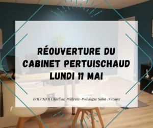 Podologue Saint Nazaire ouvert : annonce pour le cabinet pertuischaud
