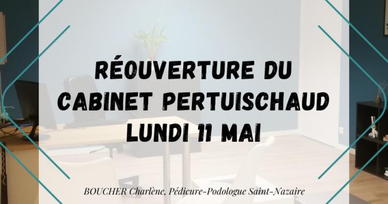 """<FONT COLOR=""""red"""" >Réouverture Podologue Saint Nazaire au 11 Mai 2020 – Cabinet Pertuischaud</FONT>"""